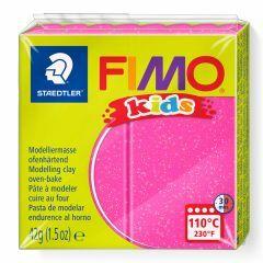 Fimo Kids boetseerklei 42 g glitter roze