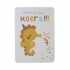 Postkaart - Zee - Hoera zeepaard