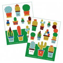 Bora stickers 2 x A6 Cactus
