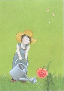 Postkaart Tingeling - gieter