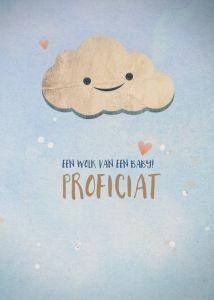 Postkaart - Een wolk van een baby