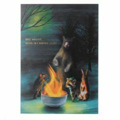 Postkaart - Veel warmte voor het nieuwe jaar