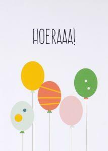 Wenskaart - Hoeraaa!