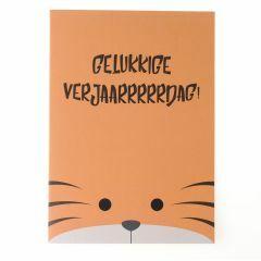 Wenskaart - tijger verjaardag