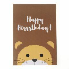 Wenskaart - leeuw birthday