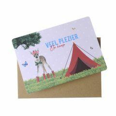 Wenskaart - Veel plezier op kamp (hert)