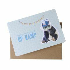 Wenskaart - Veel plezier op kamp (panda)