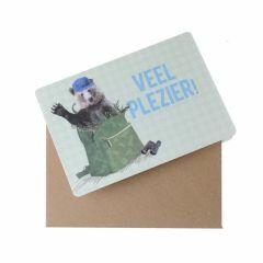 Wenskaart - Veel plezier