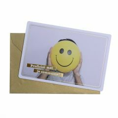 Wenskaart - Communie smiley