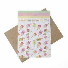 Wenskaart - Happy Birthday to You - ijsjes