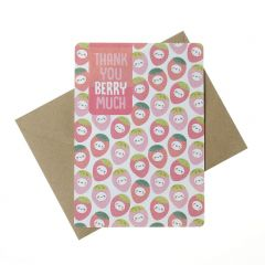 Wenskaart - Thank You Berry Much