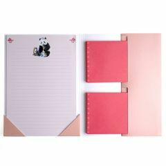 Briefpapier 15 stuks + enveloppen 10 stuks Panda en kat