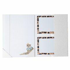 Briefpapier 15 stuks + enveloppen 10 stuks Leopard