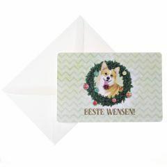 Wenskaarten 5 stuks Beste wensen hond