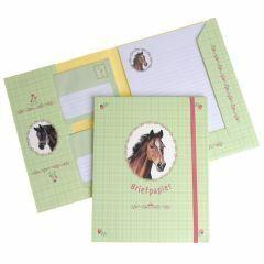 Briefpapier set 15 vellen + 10 enveloppen Paard