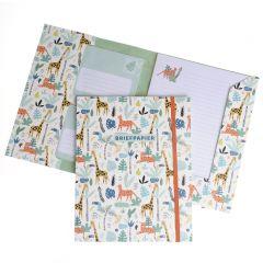 Briefpapier set 15 vellen + 10 enveloppen Safari