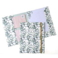 Briefpapier set 15 vellen + 10 enveloppen Botanisch