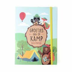 Briefpapier Groetjes van op kamp - Bosdieren