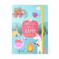 Briefpapier Groetjes van op kamp - Trendy dieren