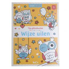 3+ Glitterkleurboek - Wijze uilen