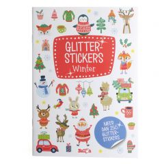 3+ Glitterstickers - Winter