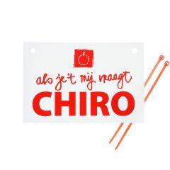 Fietsbordje Chiro met 2 snelstrips