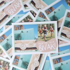 Bivakpostkaart 20 tent-klok 20 stuks