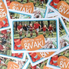 Bivakpostkaart 20 bosloop-bekers 20 stuks