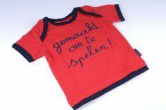 Baby-T-shirt maat 80 Gemaakt om te spelen
