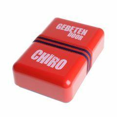 Brooddoos 'gebeten door Chiro' rood-blauw