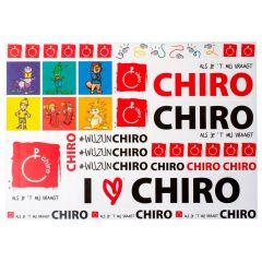 Stickervel Chiro met afdelingsfiguren A4