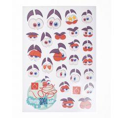 Stickervel Chiro jaarthema '20-'21 OnvoorSPELbaar A4