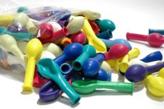 Ballon pastel 12 cm 100 stuks assortiment