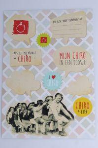 Stickervel Chiro Retro A4