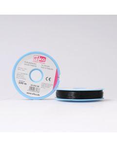 Nylondraad 0,4 mm 100 m zwart