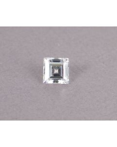 Zirkonium steen vierkant 5 x 5 mm wit