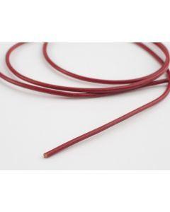 Lederveter rond 80 cm rood
