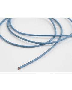 Lederveter rond 80 cm lichtblauw