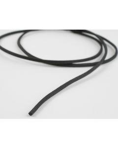 Lederveter vierkant 100 cm zwart