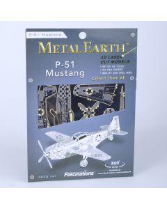 Metal Earth vliegtuig Mustang P-51