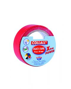 Collall duct-tape 19 mm breed 4 m rood