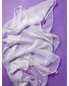 Sjaal chiffon 180 x 45 natuur/wit