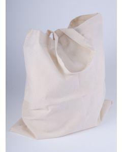 Katoenen zak 38 x 42 cm met lang schouderlint ecru
