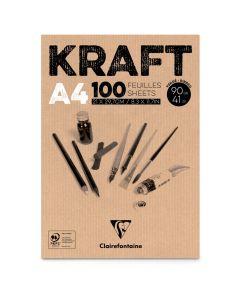 Kraftpapier 90 g 100 vellen A4