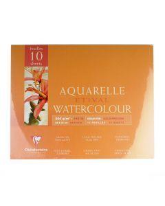 Etival aquarelblok 300g 4-zijdig gelijmd 24x30 cm 10 vellen