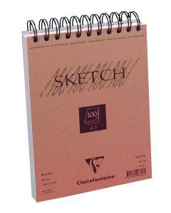 Schetsboek met spiraalbinding 90 g 100 vel A5