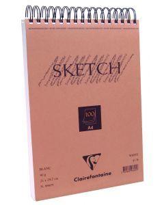 Schetsboek met spiraalbinding 90 g 100 vel A4