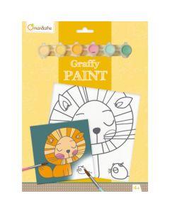 Graffy Paint leeuw 4-6 jaar