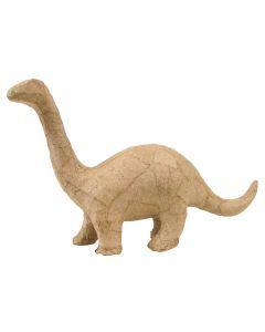 Papier-maché figuurtje 12 cm brontosaurus