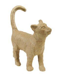 Papier-maché figuurtje 12 cm kat